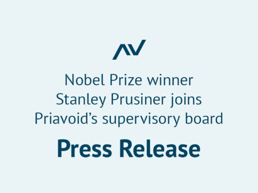 Nobel Prize winner Stanley Prusiner joins Priavoid's supervisory board