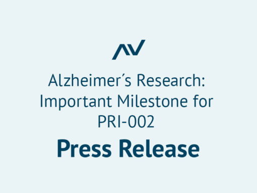 Alzheimer´s Research: Important Milestone for PRI-002
